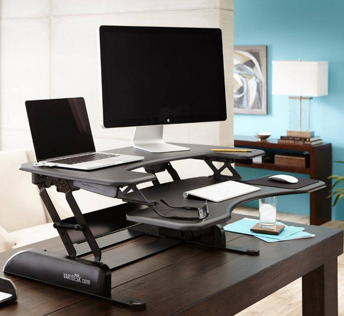 A standing desk option like this could add years to your life!