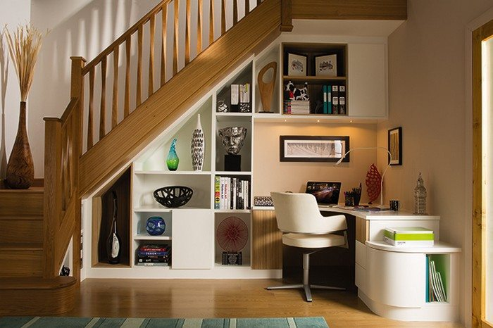 Very Small Office Ideas: Under Stairs Home Office Ideas