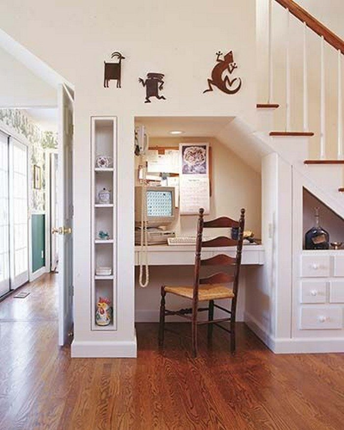 60 Under Stairs Storage Ideas For Small Spaces Making Your: Under Stairs Home Office Ideas