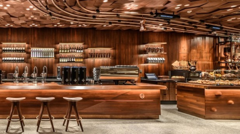 Starbucks Reserve stores are promoted as the total coffee experience with on-premise roasting and a bakery.