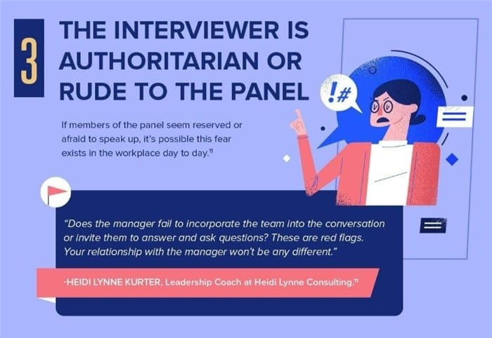 Pay heed if other members of the interview panel seem afraid to speak.