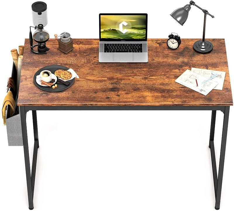 Ideally, you'll have space for a desk where you can create your home workstation.