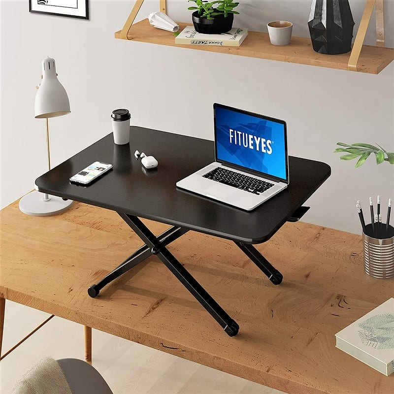 The Fitueyes Height-Adjustable Standing Desk is the most inexpensive option in our review.